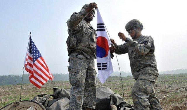 Coreia do Sul e EUA em exercício de guerra