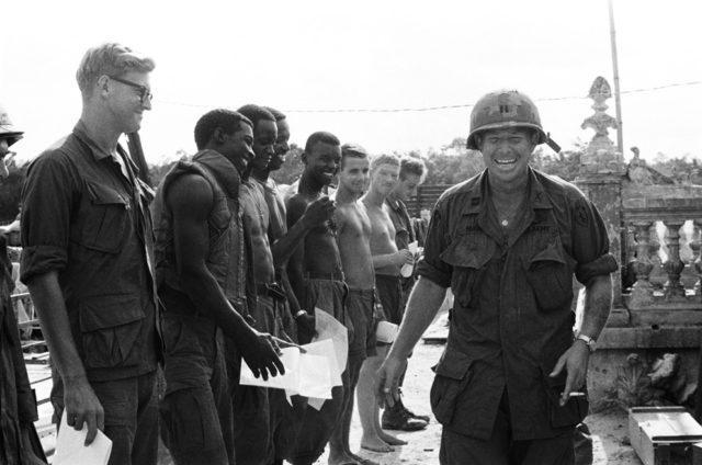 Soldados americanos na Guerra do Vietnã.