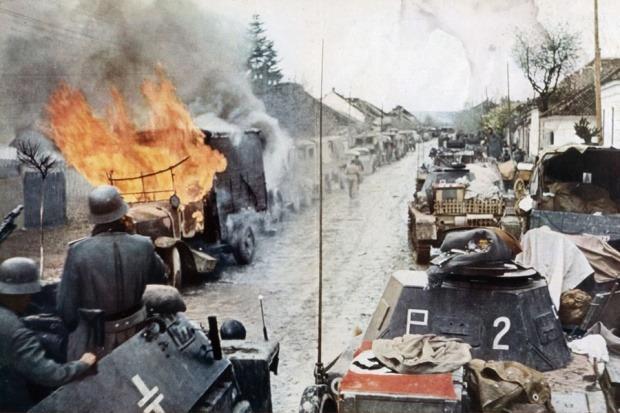 Blindados Alemães durante a operação barbarossa - 1941 junho