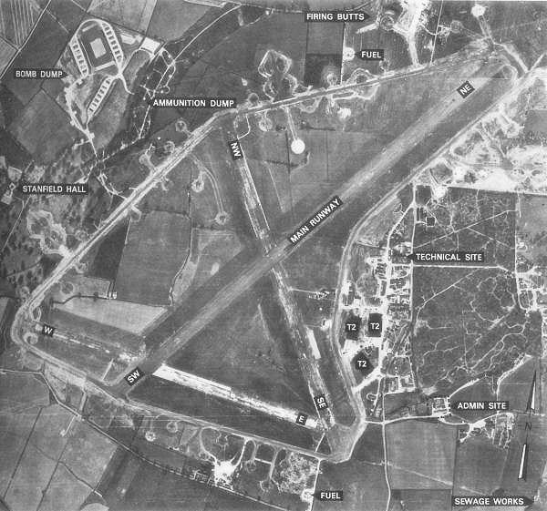 Fotografia aérea do aeródromo de Hethel , Inglaterra