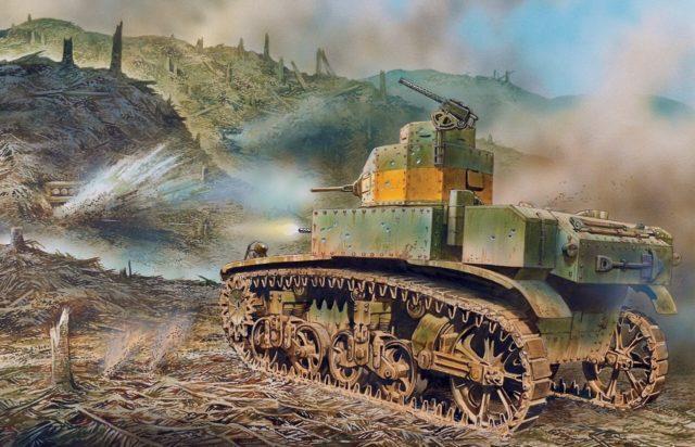 M3 Stuart durante a batalha de Guadalcanal