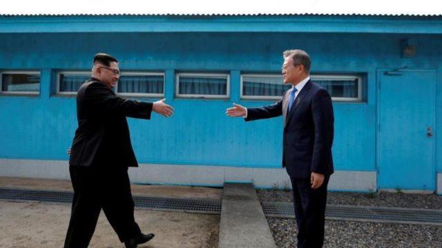 Kim Jong Un e Moon Jae