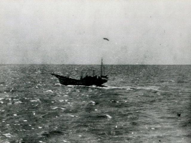 Nitto Maru afundando