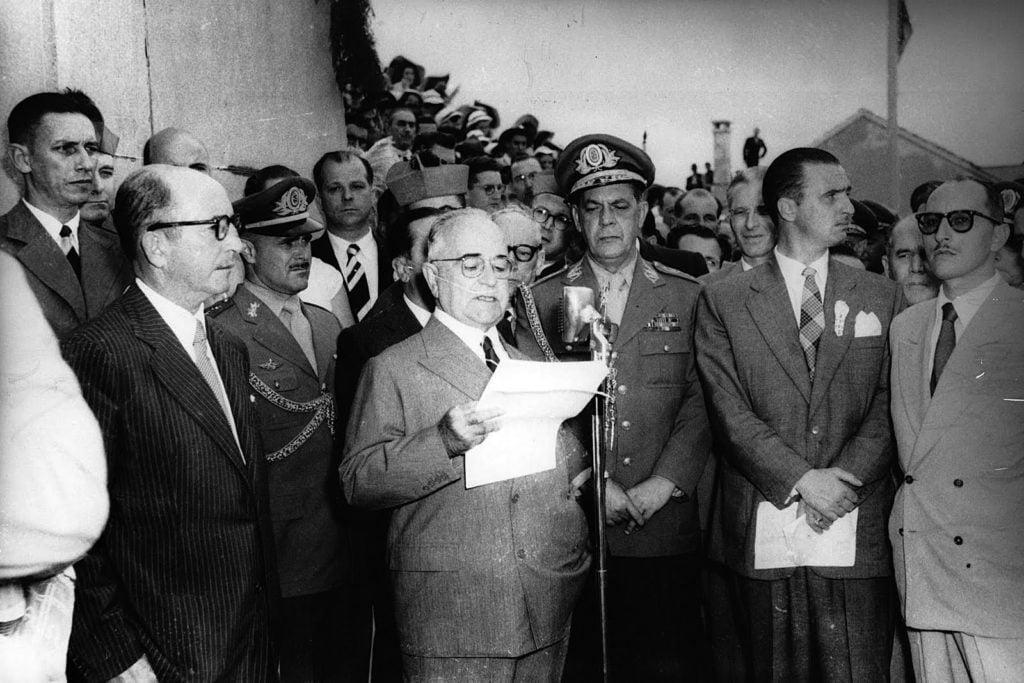 Getúlio Vargas em um discurso.