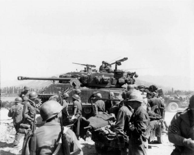Soldados americanos na Guerra da Coréia