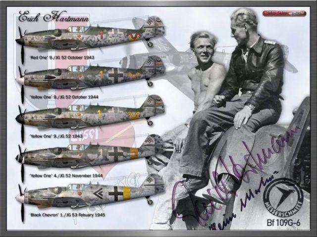 Erich Hartmann é os aviões pilotou na Segunda Guerra Mundial.