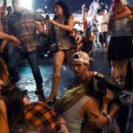 Pessoas desesperadas durante o atentado em Las Vegas