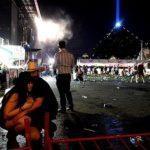 Um casal durante o atentado em las vegas